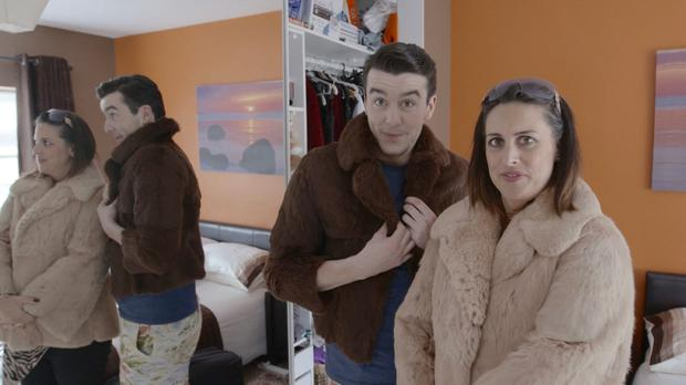 Al Porter and Lucy Kennedy get cosy on Livin With Lucy