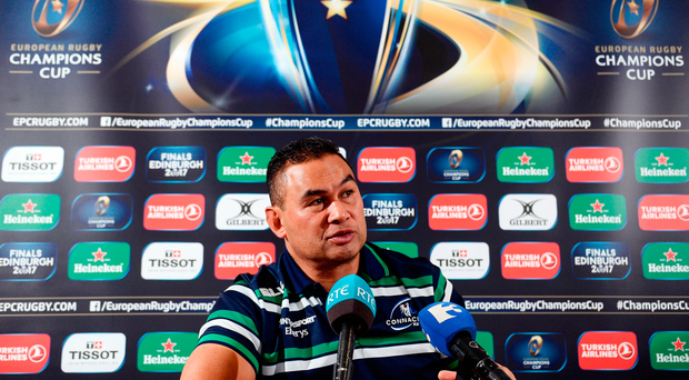 Connacht head coach Pat Lam during a press conference at the Sportsground in Galway