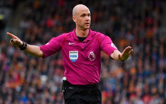 Anthony Taylor will take charge of Liverpool v Manchester United