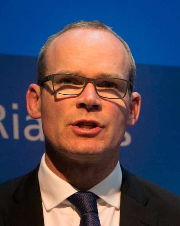 11/10/2016 Minister for Housing, Planning, Community and Local Government Simon Coveney TD speaking to media following Budget 2017 at Government Press CeNtre, on Merrion Street, Dublin Photo: Gareth Chaney Collins