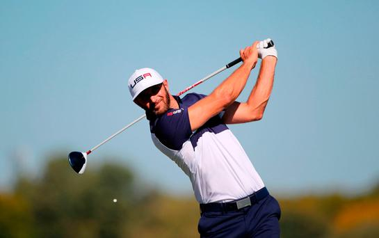 USA's Dustin Johnson
