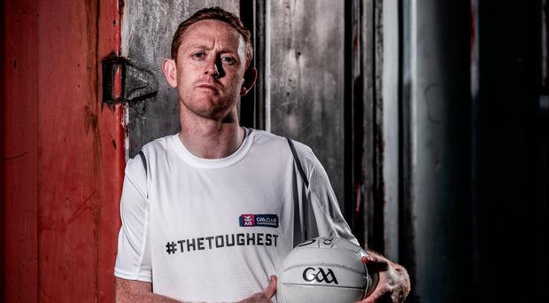 Dr Crokes and Kerry star Colm Cooper at yesterday's launch of the 2016/17 AIB Club Championships. Photo by Sam Barnes/Sportsfile