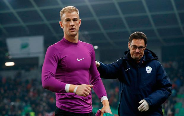 England's Joe Hart at the end of the match Action Images via Reuters / Carl Recine Livepic EDITORIAL USE ONLY.