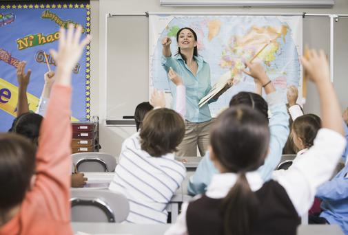 Of the 2,400 new teachers, 680 will cater for growing enrolments at primary and second-level. Stock image