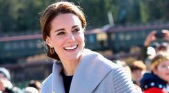 Catherine, Duchess of Cambridge visits Carcross during the Royal Tour of Canada on September 28, 2016 in Carcross, Canada.