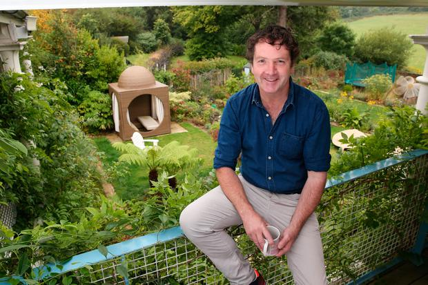 Labour of love: Diarmuid Gavin above his garden. Photo: Fran Veale