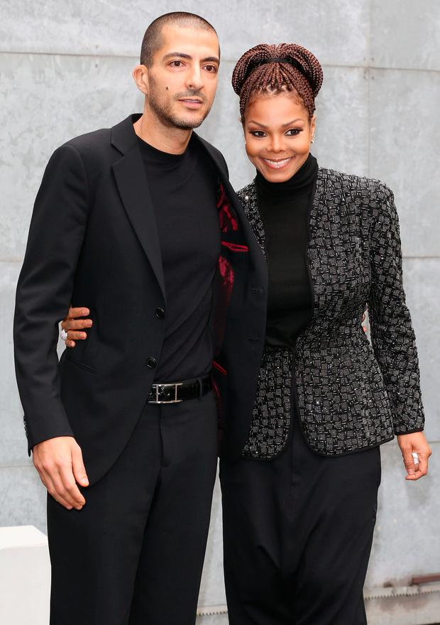 Wissam al Mana and Janet Jackson attend the Giorgio Armani fashion show during Milan Fashion Week Womenswear Fall/Winter 2013/14 on February 25, 2013 in Milan, Italy. (Photo by Vittorio Zunino Celotto/Getty Images)