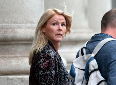 Eilis Crawford leaves the High Court in Dublin today where she was awarded 685,000 Pic Collins Courts.