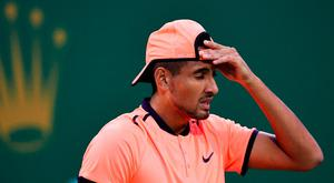 Nick Kyrgios at the Shanghai Masters tennis tournament Picture: AFP