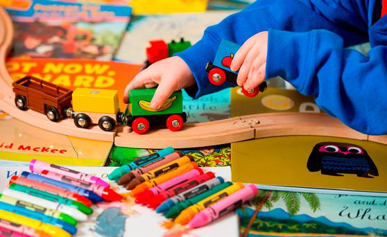 Households earning less than €47,500 after tax qualify for subsidies to help them pay for childcare for children up to 15 years of age. Photo: Dominic Lipinski/PA Wire