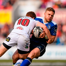 Ian Madigan is tackled by Ulster's Paddy Jackson during his final weeks as a Leinster out-half. The two No 10s will face-off when Ulster travel to Bordeaux on Sunday Picture: Stephen McCarthy / SPORTSFILE