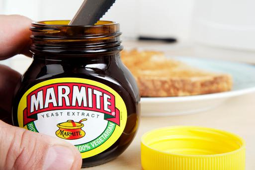 Irish shoppers could soon find top brands like Marmite missing from Tesco shelves as a result of the plunge in sterling. Photo by: Newscast/UIG via Getty Images