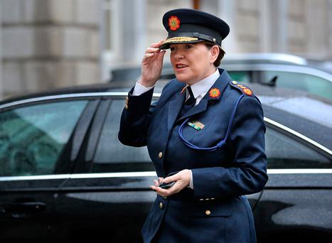 Garda Commissioner Nóirín O'Sullivan arrives at Leinster House for the Oireachtas Joint Committee on Justice and Equality meeting