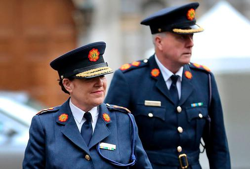 Garda Commission Nóirín O'Sullivan arriving for the Oireachtas Joint Committee on Justice and Equality meeting at Leinster House yesterday
