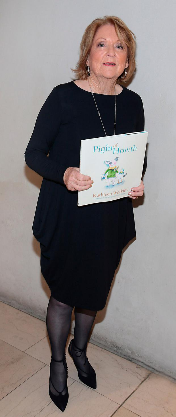 Kathleen Watkins at the launch of her new children's book, Pigín of Howth, at The National Gallery of Ireland. Picture: Brian McEvoy