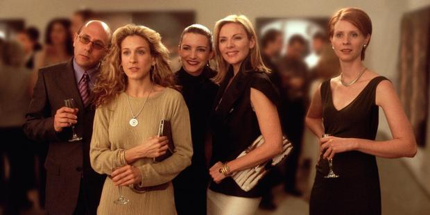 (From Left To Right) Willie Garson Stars As Stanford, Sarah Jessica Parker Stars As Carrie, Kristian Davis Stars As Charlotte, Kim Cattrall Stars As Samantha And Cynthia Nixon Stars As Miranda In The Hbo Comedy Series