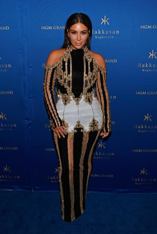 Television personality Kim Kardashian West attends the third anniversary celebration of Hakkasan Las Vegas Nightclub at MGM Grand Hotel & Casino on April 9, 2016 in Las Vegas, Nevada. (Photo by Ethan Miller/Getty Images)