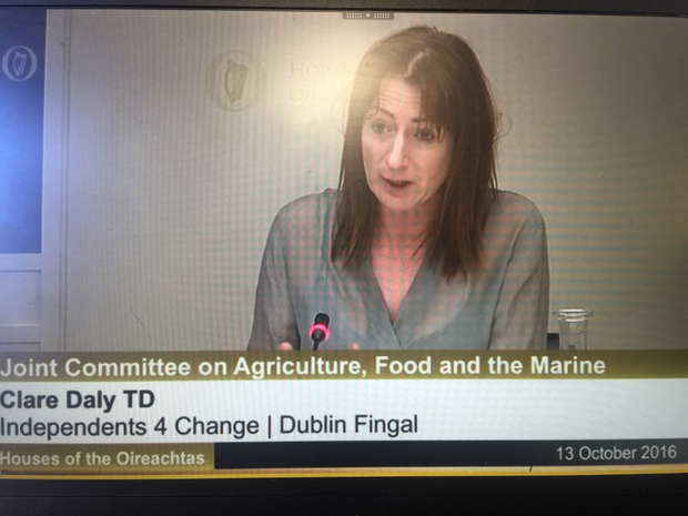 Clare Daly has been in Leinster House today