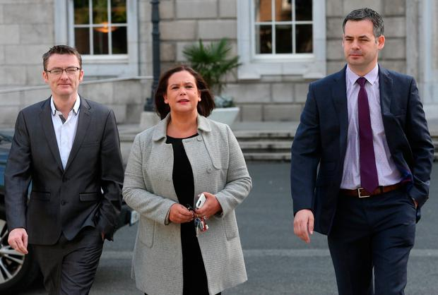 Sinn Féin's Mary Lou McDonald has said her party will seek to block the implementation of the pay increases. Photo: Laura Hutton/Collins Photo Agency