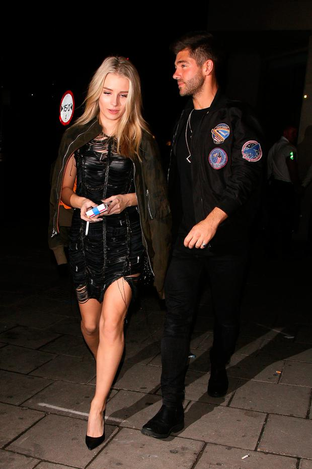 Lottie Moss and Alex Mytton at Tape nightclub on October 13, 2016 in London, England. (Photo by Mark Milan/GC Images)
