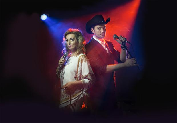 Siobhan McCarthy as Irene Day and Killian Donnelly as Jackie Day in the premiere of Donegal at the Abbey Theatre