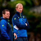 Leinster head coach Leo Cullen, right, and scrum coach John Fogarty