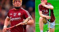 Davy Glennon in action against Waterford this year and (right) dejected after last year's Leinster final defeat to Kilkenny