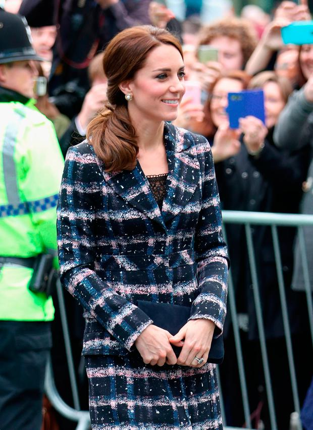 Catherine, Duchess of Cambridge arrives at The National Football Museum during the visit to Manchester on October 14, 2016 in Manchester, England. (Photo by Chris Jackson/Getty Images)