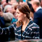 Catherine, Duchess of Cambridge waves to wellwishers after touring the National Football Museum during her visit to Manchester on October 14, 2016 in Manchester, England. (Photo by Chris Jackson/Getty Images)
