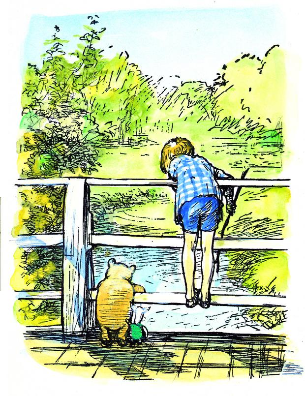 The House at Pooh Corner, first published 1928. Text by A.A. Milne copyright © Trustees of the Pooh Properties. Line illustrations copyright © E.H.Shepard.
