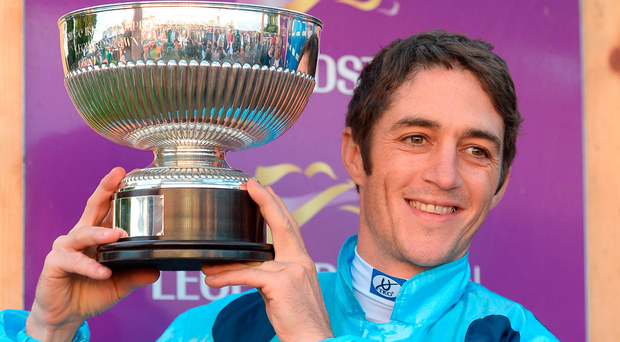 Jean-Claude Rouget's Almanzor looks a couple of ticks overpriced around 6/4 under Christophe Soumillon. Photo by Cody Glenn/Sportsfile