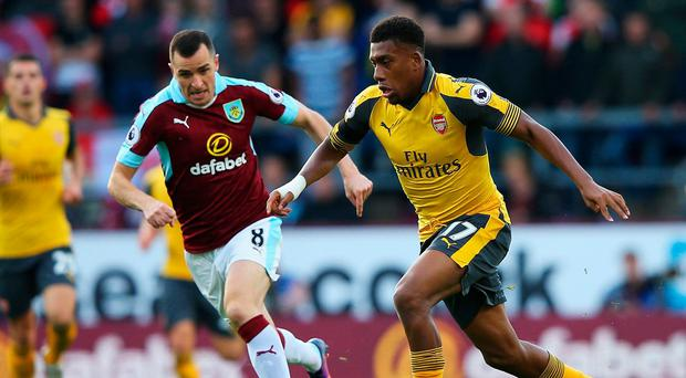 Alex Iwobi in action against Burnley. Photo: Alex Livesey/Getty Images