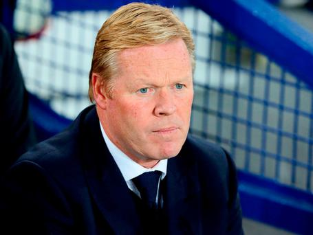 Everton manager Ronald Koeman. Photo: Martin Rickett/PA Wire.