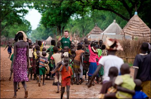 GOAL ambassador and Dublin footballer Jack McCaffrey on a trip to a project in Ethiopia in June Photo: David Conachy