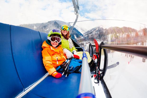 Up, up away: Ski lifts are not so terrifying once you've mastered them