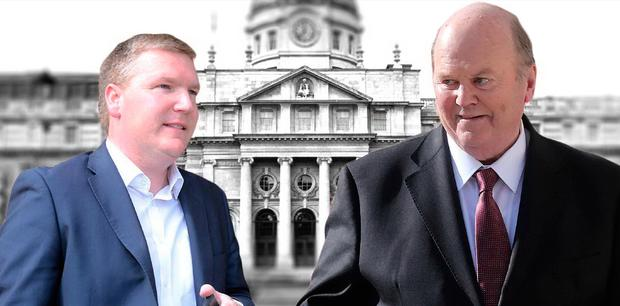 Double act: Michael McGrath, FF finance spokesman, and Minister for Finance Michael Noonan have forged an unusual political relationship lately