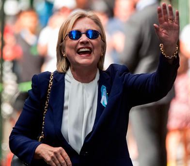 Hillary Clinton: Currently ahead in the polls with just three weeks to go before the election