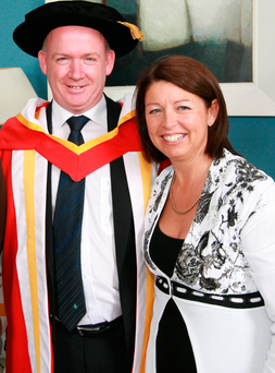 Ann Kidney with Declan when he received an honorary doctorate from the University of Limerick Photo: Press 22