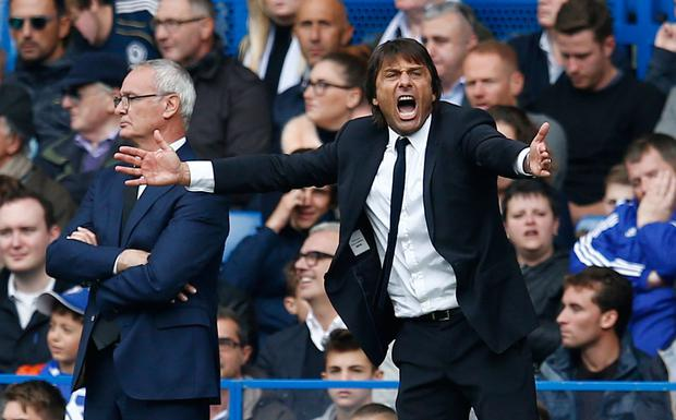 Chelsea manager Antonio Conte (right) and Leicester City manager Claudio Ranieri. Picture: Reuters