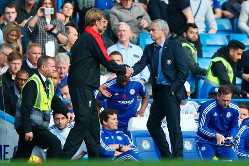 Jurgen Klopp with Jose Mourinho