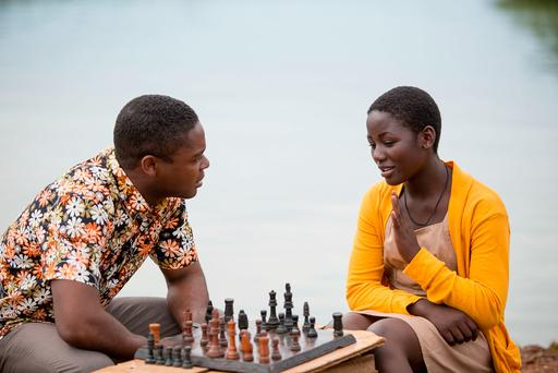 David Oyelowo as Robert Katende and Madina Nalwanga as Phiona Mutes in Queen of Katwe