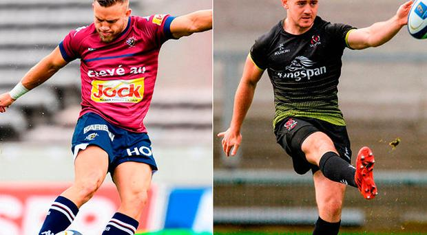 Ian Madigan and Paddy Jackson go head to head