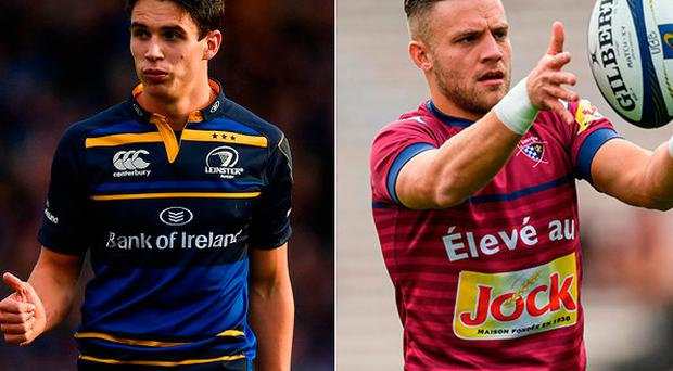 Joey Carbery and (right) Ian Madigan