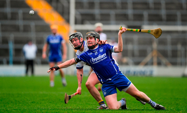Richie Ruth, right, of Thurles Sarsfields in action against Willie Connors of Kiladangan. Photo: Sportsfile