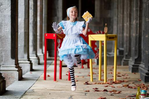 Tiny Dancer, Lily-Mae Morrison, who is taking part in the Babor International Arts Festival for Children in Galway. Photo: Andrew Downes