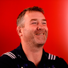 Anthony Foley in good spirits at a Munster press conference two weeks ago. Photo: Sportsfile
