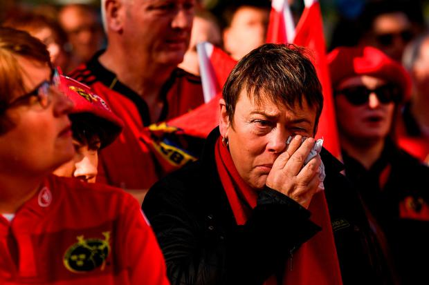 A supporter sheds a tear. Photo by Stephen McCarthy/Sportsfile