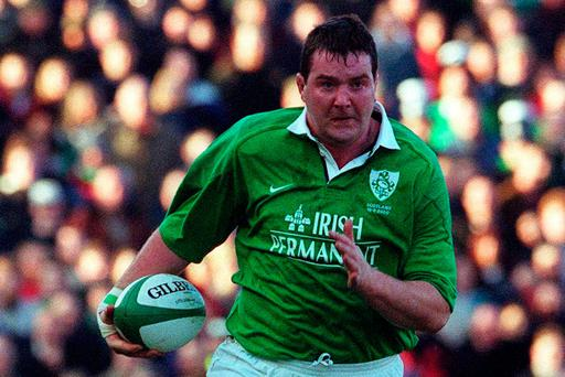 Anthony Foley in action for Ireland in 2000. Photo: Matt Browne