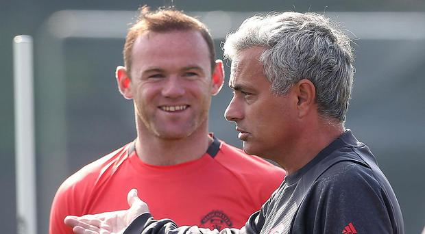 Jose Rooney has been dropped from United's starting line-up by Mourinho. Getty