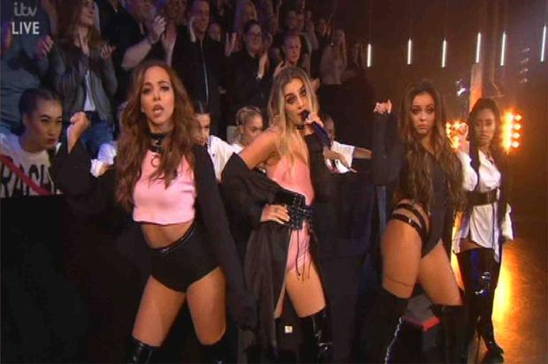 Little Mix perform on Sunday night's X Factor